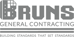 Brun's General Contracting logo in gray